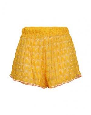 Пляжные брюки и шорты MISSONI MARE. Цвет: желтый