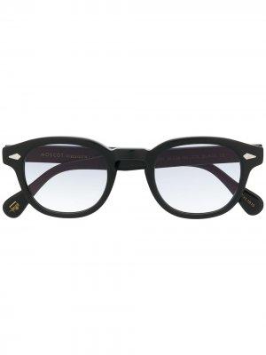 Солнцезащитные очки в квадратной оправе Moscot. Цвет: черный