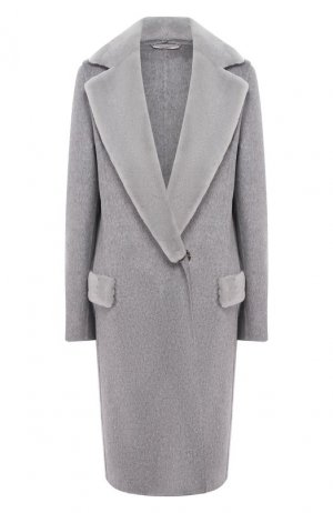 Кашемировое пальто Colombo. Цвет: серый