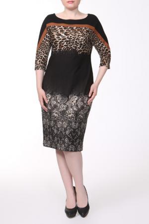 Платье Alkis. Цвет: коричневый