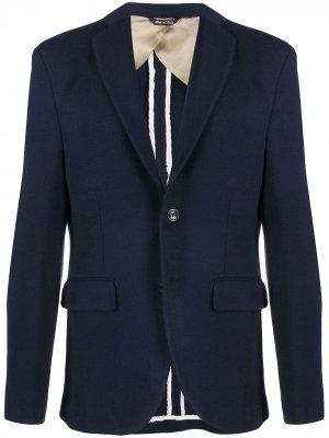 Однобортный пиджак узкого кроя LC23. Цвет: синий