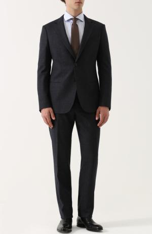 c00ecab714236 Шерстяной костюм с пиджаком на двух пуговицах Giorgio Armani. Цвет: синий