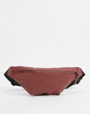Сумка-кошелек на пояс каштанового цвета 1303-Красный Rains