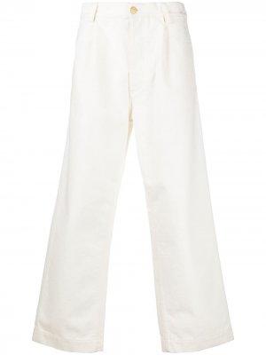 Фактурные джинсы широкого кроя Marni. Цвет: белый