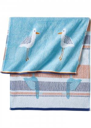 Полотенце с чайками bonprix. Цвет: синий