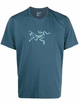 Arcteryx футболка Cormac с логотипом Arc'teryx. Цвет: синий