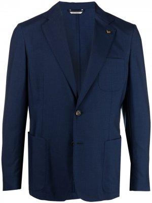 Кашемировый пиджак Colombo. Цвет: синий