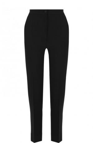 Укороченные шерстяные брюки со стрелками Dolce & Gabbana. Цвет: чёрный