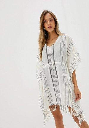 Платье пляжное Lascana. Цвет: белый