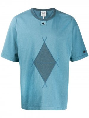 Argyle diamond print t-shirt Champion. Цвет: синий