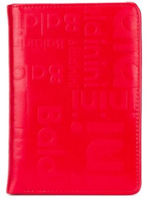 Визитница с тисненым логотипом Baldinini. Цвет: красный