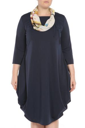 Платье Exclusive. Цвет: темно-синий