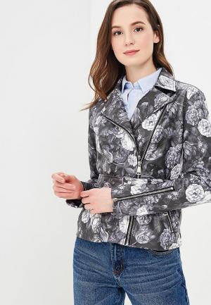Куртка кожаная Incity MP002XW0RUH8. Цвет: серый