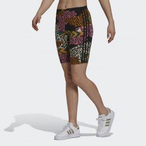 Велосипедки FARM Rio 3-Stripes Sportswear adidas. Цвет: черный