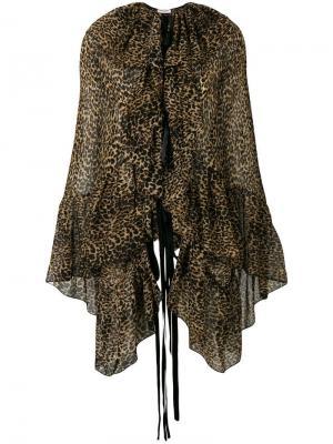 Блузка с леопардовым узором Saint Laurent