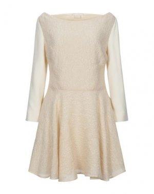Короткое платье ANTONIO BERARDI. Цвет: слоновая кость