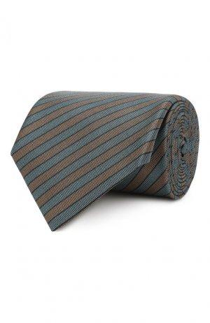 Шелковый галстук Brioni. Цвет: зелёный