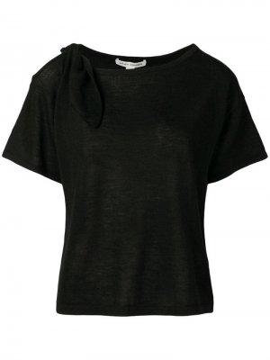 Кашемировая футболка с вырезами Autumn Cashmere. Цвет: черный