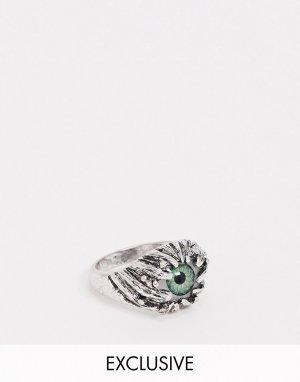 Серебристое кольцо с глазом Inspired-Серебряный Reclaimed Vintage