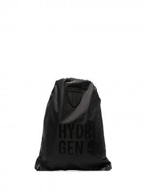 Рюкзак с кулиской и логотипом Hydrogen. Цвет: черный
