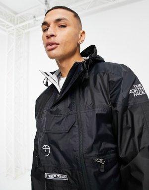 Черная легкая непромокаемая куртка-анорак Steep Tech-Черный цвет The North Face