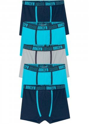 Шорты-боксеры (5 шт.) bonprix. Цвет: синий