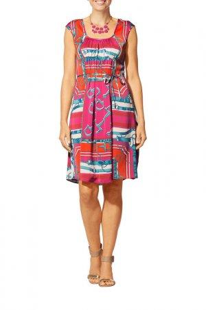 Платье Apart. Цвет: розовый, мультицвет