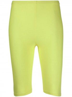 Байкерские шорты с завышенной талией Amen. Цвет: желтый