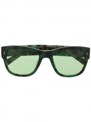Солнцезащитные очки в прямоугольной оправе Dolce & Gabbana Eyewear. Цвет: зеленый