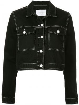 Укороченная джинсовая куртка Hunter Nobody Denim. Цвет: черный