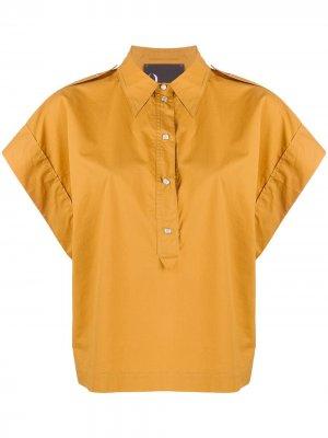 Рубашка на кнопках с широкими рукавами 8pm. Цвет: нейтральные цвета