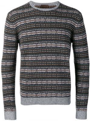 Вязаный свитер с узором интарсия Altea