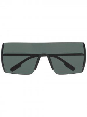 Массивные солнцезащитные очки Kenzo. Цвет: черный