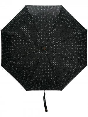 Зонт с цветочным принтом Moschino. Цвет: черный
