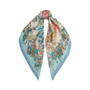 Шелковый платок Phyto Radical Chic. Цвет: синий