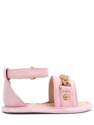 Босоножки для девочки кожаные Versace. Цвет: розовый