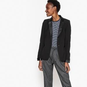 Куртка-блейзер приталенная VERO MODA. Цвет: темно-синий,черный