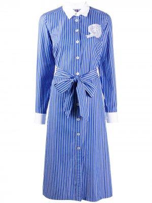 Платье-рубашка в полоску Tommy Hilfiger. Цвет: синий