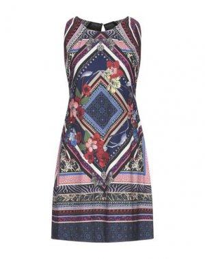 Короткое платье HALE BOB. Цвет: темно-синий