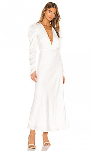 Платье миди zaria Bardot. Цвет: ivory
