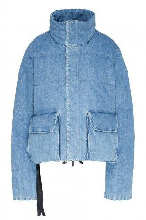 Джинсовая куртка-пуховик Unravel Project. Цвет: синий