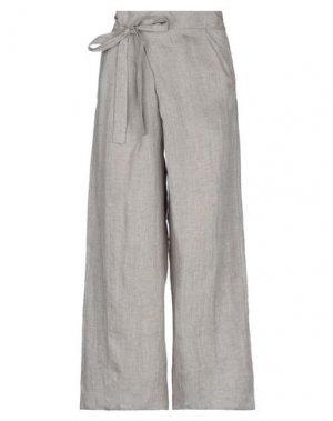 Повседневные брюки BIONEUMA NATURAL FASHION. Цвет: голубиный серый