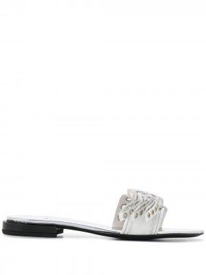 AJ1033 SILVER Leather/Fur/Exotic Skins->Leather Toga Pulla. Цвет: белый