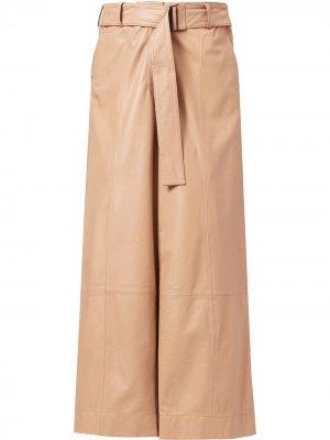 Расклешенные укороченные брюки с завышенной талией Jason Wu. Цвет: коричневый