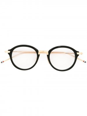 Очки с круглой оправой Thom Browne Eyewear. Цвет: черный