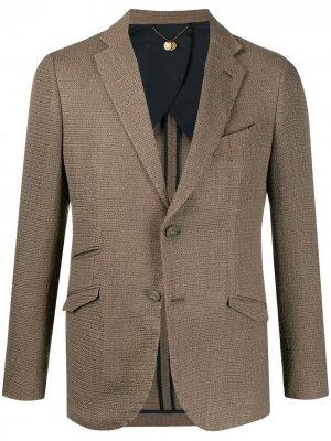 Фактурный пиджак Maurizio Miri. Цвет: нейтральные цвета