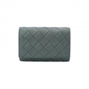 Кожаный футляр для ключей Bottega Veneta. Цвет: серый