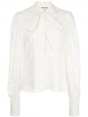Блузка с бантом и длинными рукавами Alexis. Цвет: ivoryfloral