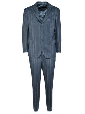 Классический костюм ANDREA CAMPAGNA. Цвет: серый
