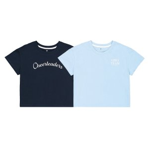 Комплект из двух футболок 10-18 LaRedoute. Цвет: синий